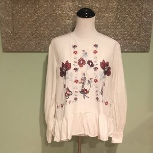 Zara Woman Embroidered Blouse